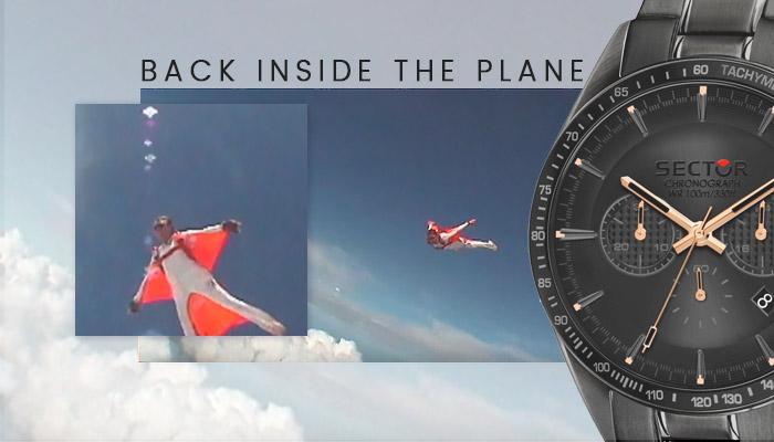 back inside the plane